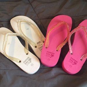 2 pair of Montego Bay flip flops